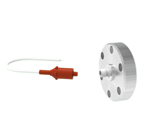 1 Pin 12kV 3 Amp 0.030 Gold Plated Molybdenum Conductor in a CF1.33 With Plug
