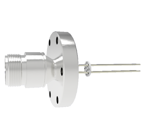 Thermocouple, Type K, 2 Pair Circular Connector on a CF2.75 Conflat Flange Without Plug