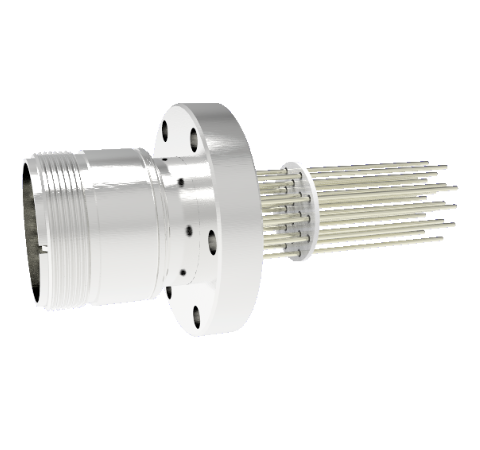 Thermocouple, Type K, 10 Pair Circular Connector in a CF2.75 Conflat Flange Without Plug