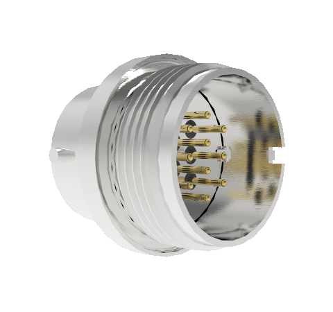 10 Pin Circular Connector, 26482 Series, 1kV, 3 Amp, Gold Plated Conductors, Double Ended, Weld in