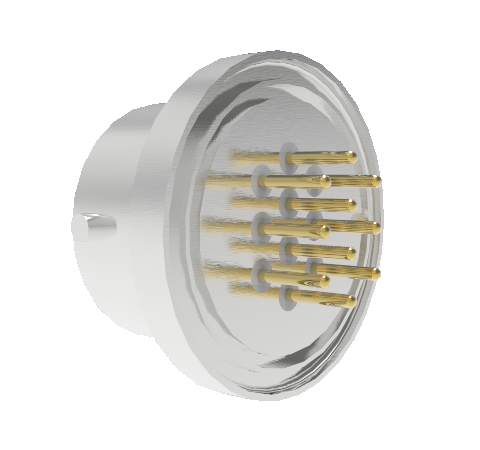 10 Pin Circular Connector, 26482 Series, 1kV, 3 Amp, Gold Plated Conductors, Single Ended, Weld in