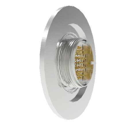 41 Pin Circular Connector, 26482 Series, 1kV, 3 Amp, Gold Plated Conductors, Double Ended, ISO KF50