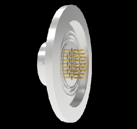 19 Pin Circular Connector, 26482 Series, 1kV, 3 Amp, Gold Plated Conductors, Single Ended, ISO KF40
