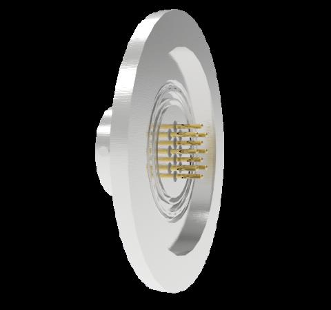 10 Pin Circular Connector, 26482 Series, 1kV, 5 Amp, Gold Plated Conductors, Single Ended, ISO KF40