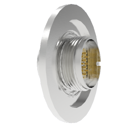 19 Pin Circular Connector, 26482 Series, 1kV, 3 Amp, Gold Plated Conductors, Double Ended, ISO KF40