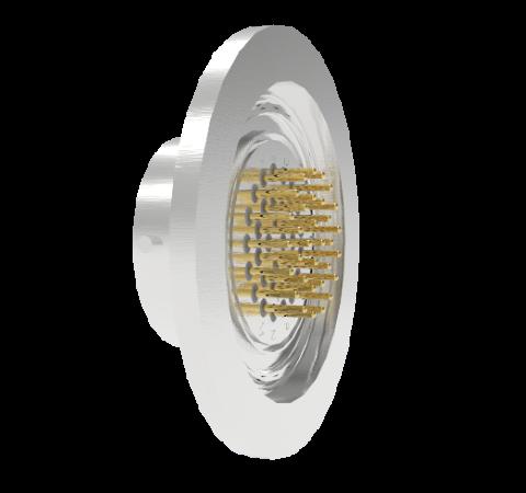32 Pin Circular Connector, 26482 Series, 1kV, 3 Amp, Gold Plated Conductors, Single Ended, ISO KF40