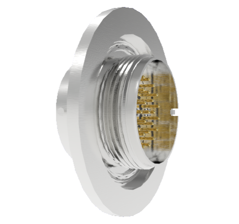 32 Pin Circular Connector, 26482 Series, 1kV, 3 Amp, Gold Plated Conductors, Double Ended, ISO KF40