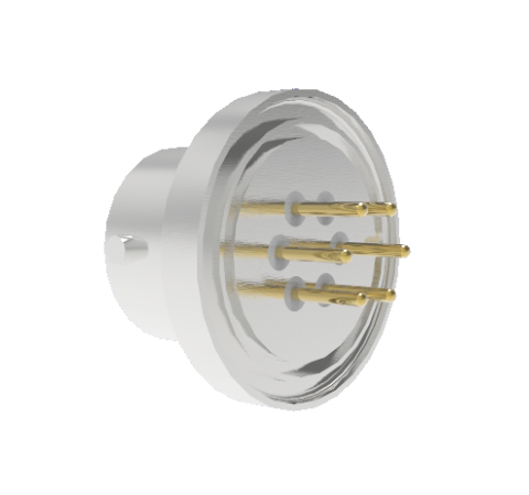 6 Pin Circular Connector, 26482 Series, 1kV, 5 Amp, Gold Plated Conductors, Single Ended, Weld In