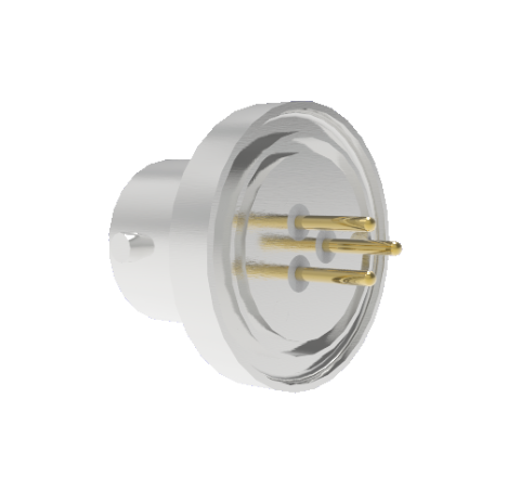 3 Pin 26482 Circular 1kV 5 Amp 0.040 Stn. Stl. Gold Plated Conductor Weld Without Plug