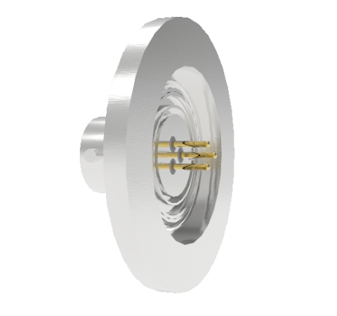 3 Pin 26482 Circular 1kV 5 Amp 0.040 Stn. Stl. Gold Plated Conductor in a KF25 Without Plug