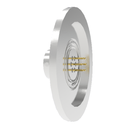 6 Pin 26482 Circular 1kV 5 Amp 0.040 Stn. Stl. Gold Plated Conductor in a KF40 Without Plug
