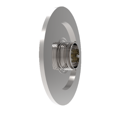 10 Pin 26482 Circular 1kV 5 Amp 0.040 Stn. Stl. Gold Plated Conductor in a KF50 Without Plug