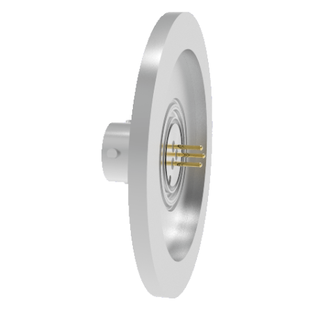 3 Pin 26482 Circular 1kV 5 Amp 0.040 Stn. Stl. Gold Plated Conductor in a KF40 Without Plug