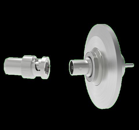 BNC Floating Shield  500V 3.6 Amp 0.094 304 Stn. Stl. Conductor KF40 Flange With Plug