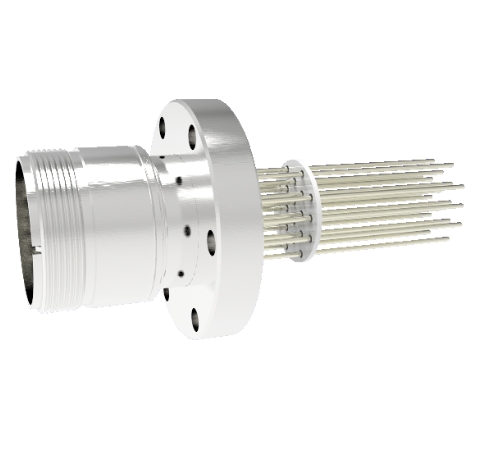 20 Pin 5015 Style Circular Connector, 700V, 4.8 Amp, Alumel Conductors in CF2.75 Flange Without Plug