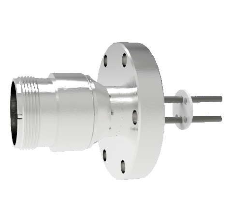 2 Pin 5015 Style Circular Connector, 700V, 25 Amp, Nickel Conductors in a CF2.75 Flange Without Plug