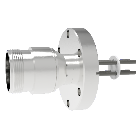 4 Pin 5015 Style Circular Connector, 700V, 46 Amp, Molybdenum Conductor in a CF2.75 Without Plug
