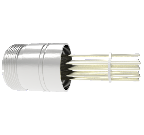 16 Pin 5015 Style Circular Connector, 700V, 4.8 Amp Alumel Conductor in Weld in adapter Without Plug