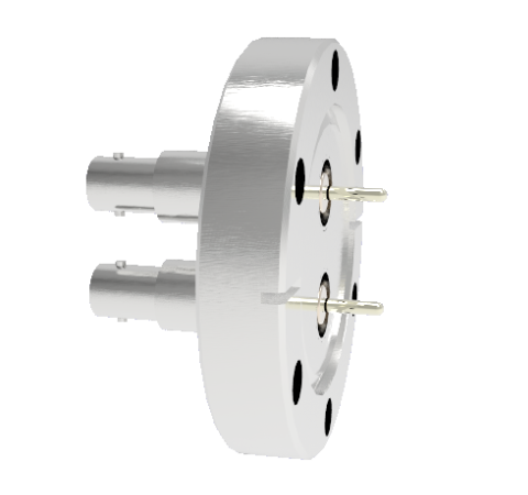 SHV Grounded Shield Recessed 5kV 10 Amp 0.094 Nickel Conductor 2 each CF2.75 Flange Without Plug