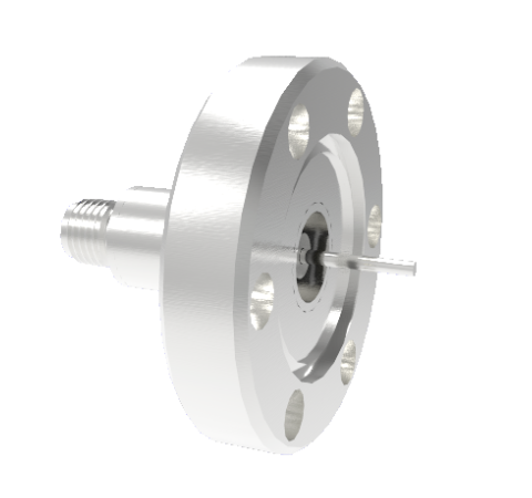 SMA Grounded Shield Recessed 500V 1.8 Amp 0.050 304 Stn. Stl. Conductor CF1.33 Flange Without Plug