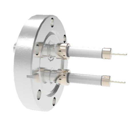 SHV Grounded Shield Exposed 10kV 8.2 Amp 0.051 Nickel Conductor 2 each CF2.75 Flange Without Plug