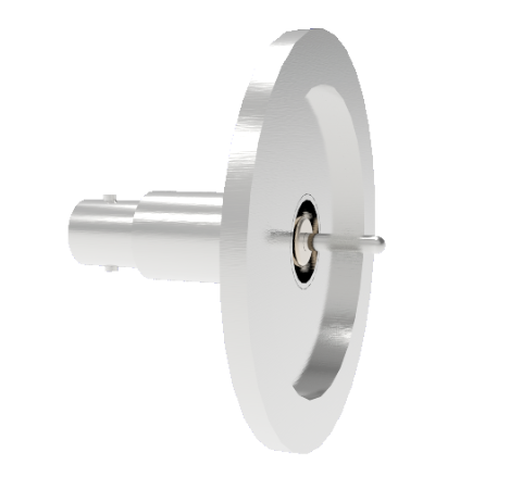 BNC Grounded Shield Recessed 500V 3.6 Amp 0.094 304 Stn. Stl. Conductor KF40 Flange Without Plug