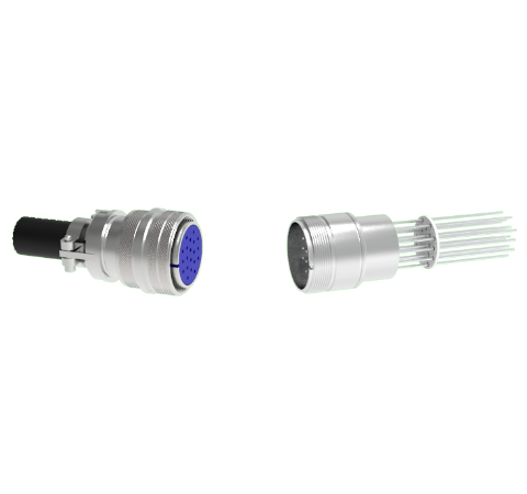20 Pin 5015 Style Circular Connector, 700V, 4.8 Amp, Alumel Conductors in Weld Adapter With Plug