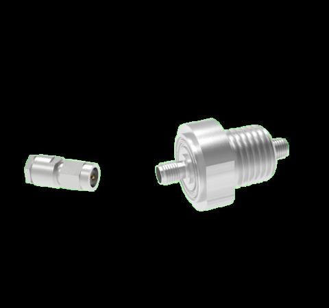 SMA 50 Ohm Grounded Shield 500V 0.8 Amp NPT 3/8 Flange With Plug