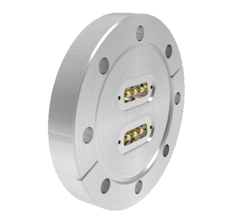 Sub D 3 Pin Power, 500V, 20 Amp, 0.142 Stn. Stl. Gold Plated Conductor, x2 in a CF4.50 Without Plugs