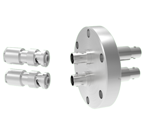 MHV Grounded Shield Recessed 5kV 3.6 Amp 2 each in a KF40 Flange With Plug