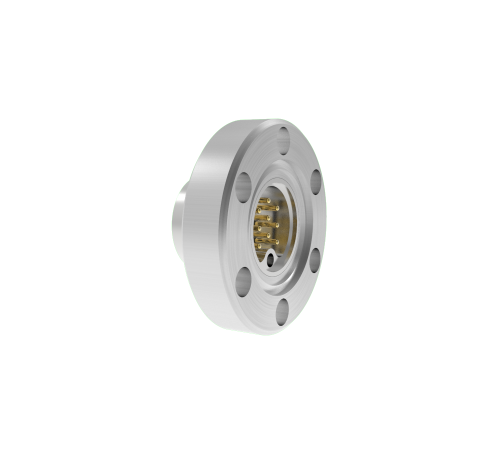 9 PIN SUB C 500V, 5 AMPS, 0.040 INCH GOLD PLATED STN STL CONDUCTOR, 1.33CF FLANGE