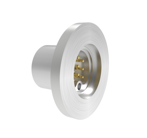 9 PIN SUB C 500V, 5 AMPS, 0.040 INCH GOLD PLATED STN STL CONDUCTOR, KF16 FLANGE