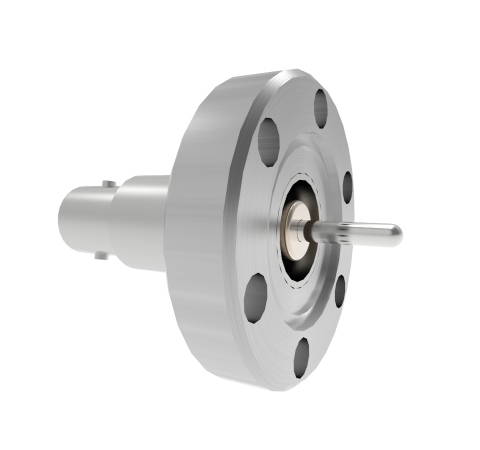 BNC Grounded Shield Recessed 500V 3.6 Amp 0.094 304 Stn. Stl. Conductor CF1.33 Flange Without Plug