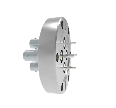 BNC Grounded Shield Recessed 500V 3.6 Amp 0.094 304 Stn. Stl. Conductor 4 each CF2.75 Without Plug