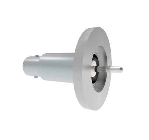 BNC Grounded Shield Recessed 500V 3.6 Amp 0.094 304 Stn. Stl. Conductor KF16 Flange Without Plug