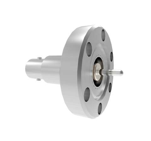 MHV Grounded Shield Recessed 5kV 3.6 Amp 0.094 304 Stn. Stl. Conductor CF1.33 Flange Without Plug