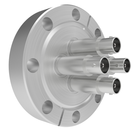 MHV Grounded Shield Recessed 5kV 3.6 Amp 4 each in a CF3.375 Flange Without Plug