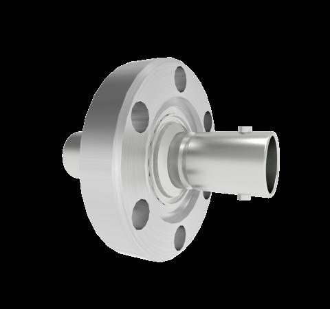 BNC 50 Ohm Grounded Shield 500V 0.8 Amp CF1.33 Flange Without Plug