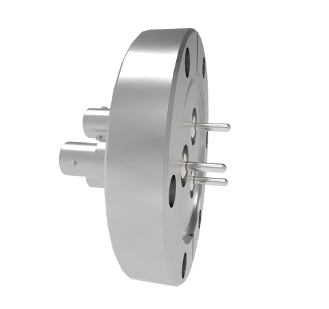 BNC Grounded Shield Recessed 500V 3.6 Amp 0.094 304 Stn. Stl. Conductor 3 each CF2.75 Without Plug