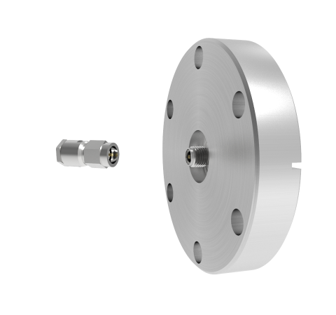 SMA 50 Ohm Grounded Shield Recessed 500V 0.8 Amp CF2.75 Flange With Plug