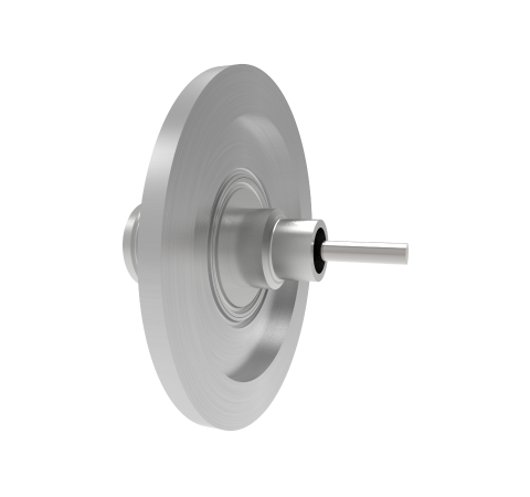 Type N  50 Ohm Grounded Shield Recessed 1.5kV 1 Amp KF40 Flange Without Plug