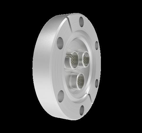 MICRO C, 19 PIN CIRCULAR CONNECTOR,250V, 0.018 INCH DIAMETER RHODIUM PLATED CONDUCTORS (3X)IN CF2.75
