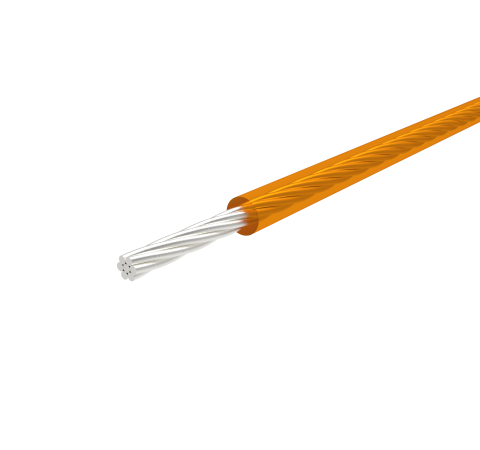 SINGLE CONDUCTOR, KAPTON INSULATED WIRE, 28 AWG SILVER PLATED COPPER, 600V, 10 AMP, 48 Inch