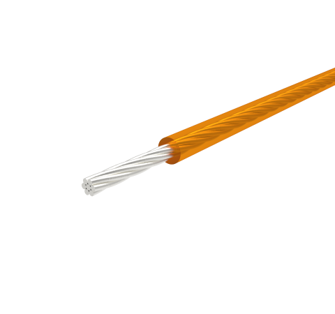 SINGLE CONDUCTOR, KAPTON INSULATED WIRE, 28 AWG SILVER PLATED COPPER, 600V, 10 AMP, 96 Inch