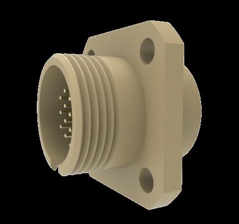 MICRO C, IN VACUUM 19 PIN PEEK NON-HERMETIC PANEL MOUNT, 250V, 0.018 INCH DIAMETER PIN CONTACTS