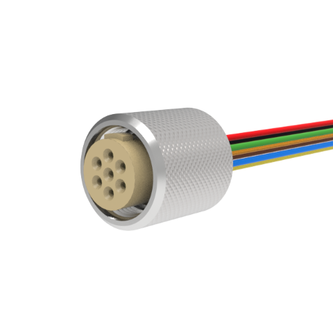 MICRO C, 7 PIN AIR SIDE PLUG, 48 INCH CABLE ASSEMBLY, 250V, 3 AMP