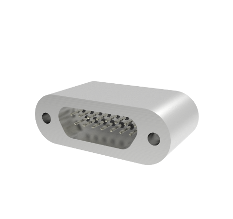 MICRO D+, 15 PIN CONNECTOR, 250V, 0.018 DIAMETER STN. STL. RHODIUM PLATED CONDUCTOR,  LASER WELD
