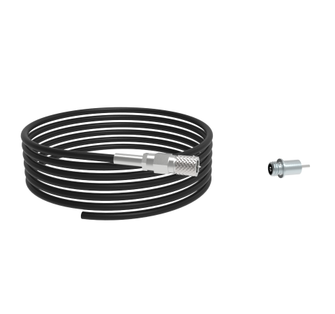 MICRODOT FEEDTHROUGH, 1KV, 2 AMP, 0.042 INCH INCONEL CONDUCTOR, WELD IN, WITH PLUG