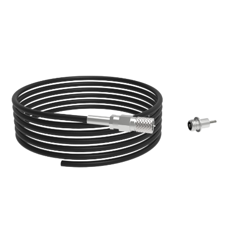 Microdot Feedthrough With Cable, 1kV, 2, Amp, 0.042 Inch Molybdenum Conductor, Weld In With Plug