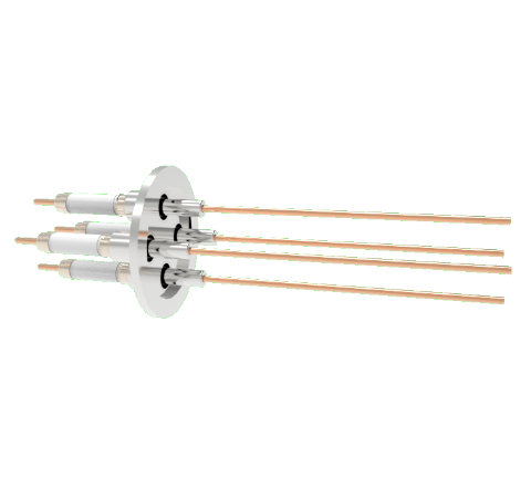 0.094 Conductor Diameter 4 Pin 20kV 30 Amp Copper Conductor in a KF40